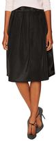 Pleated Cotton Midi Skirt