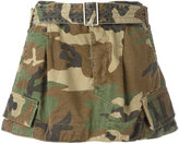 Marc Jacobs camouflage belted cargo skirt