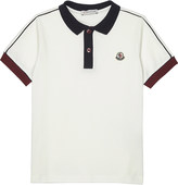 Moncler Striped sleeve cotton polo shirt 4-14 years