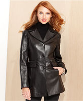 Coat, Notched-Collar Leather
