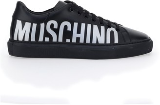 Moschino Logo Print Low-Top Sneakers