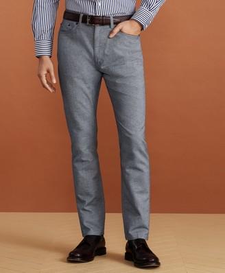 Brooks Brothers Golden Fleece Five-Pocket Stretch Cotton-Linen Trousers