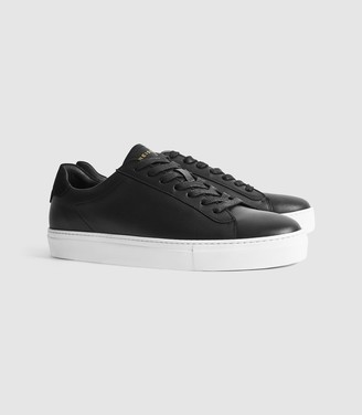 Reiss Finley - Leather Trainers in Black