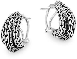 John Hardy Classic Chain Huggie Hoop Earrings