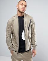 Nike Tech Hypromesh Varsity Jacket In Beige 832190-235