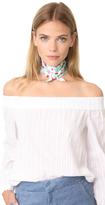 Kate Spade Greenhouse Silk Skinny Scarf