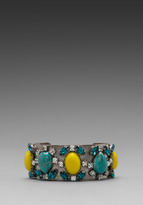 Dannijo Perra Cuff in Yellow/Turquoise
