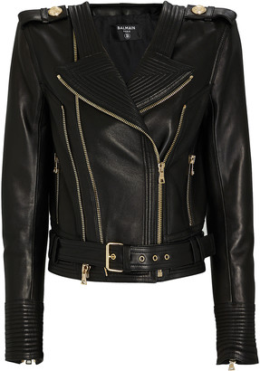 Balmain Leather Moto Jacket