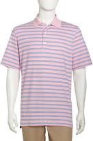 Bobby Jones Shadow-Stripe Polo Shirt, Carnation