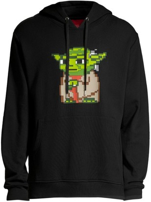 Mostly Heard Rarely Seen Oger Pixelated Graphic Cotton Hoodie