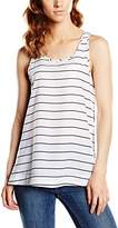 French Connection Women's FT Polly Plains Striped Sleeveless Tank Top