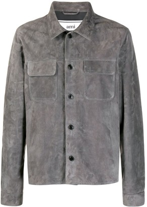 AMI Paris Suede Button Overshirt