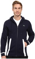 Lacoste T2 Fleece Color Block Zip Hoodie