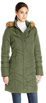 Tommy Hilfiger Women's Long Chevron-Quilted Down Coat