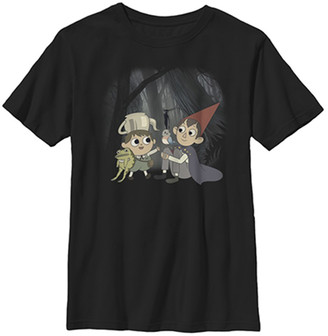 Fifth Sun Boys' Tee Shirts BLACK - Over the Garden Wall Black Forest Scene Tee - Boys