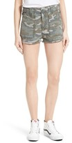 Free People Women's Camo High Rise Shorts