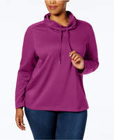 Karen Scott Plus Size Cotton Funnel-Neck Top, Created for Macy's