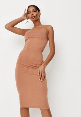 Missguided Jersey Bandeau Midi Dress
