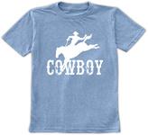 Urban Smalls Heather Blue 'Cowboy' Crewneck Tee - Toddler & Boys