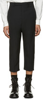 Rick Owens Black Cropped Astairs Trousers