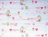 4 Piece Full Sheet Set Girls Girly Kids Bedding Soft Comfy Pretty Princess Castles Crowns Magic Wands Fairy Tales
