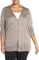 Nic+Zoe Plus Size Women's Chiffon Back Cardigan