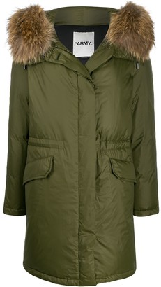 Yves Salomon Army faux fur trim parka coat