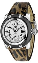 Glam Rock Women's summerTime 40mm Brown Leather Band Steel Case Swiss Quartz Analog Watch GR40050