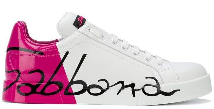 Dolce & Gabbana varnished logo sneakers