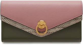 Mulberry Harlow Long Wallet Mocha Rose Silky Calf and Ayers Multi-Coloured