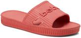 Bebe bebe Women's Sandals Coral - Coral Textured Logo Craze Slide - Women