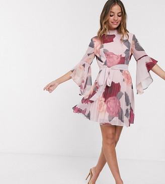 Chi Chi London Petite mini dress in floral print