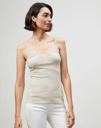 Lafayette 148 New York Plus-Size Mesh Jersey Camisole