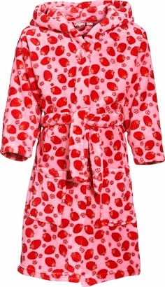 Playshoes Dots Fleece Hooded Girl's Loungewear Dressing Gown