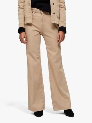 Selected Ella Bootcut Jeans, Cornstallk