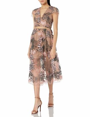 Dress the Population Dress The Pouplation Juliana Two Piece Lace Crop Top & Midi Skirt Set