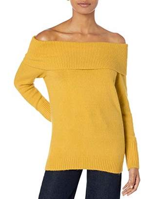 Armani Exchange A|X Women's Classic Long Sleeved Off The Shoulder Fitted Sweater