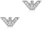 Emporio Armani Sterling Silver Signature Eagle Earrings
