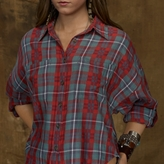 Denim & Supply Ralph Lauren Stevenson Plaid Dolman Shirt