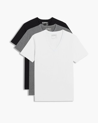 Express 3 Pack Deep V-Neck T-Shirts