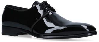 Santoni Moor Patent Derby Shoes