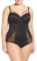 Plus Size Women's Ashley Graham Underwire Garter Bodysuit