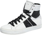 Thumbnail for your product : Amiri Black/White Leather Sunset Lace High Top Sneakers Size 42