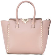 Valentino Garavani Valentino Rockstud trapeze tote - women - Leather/Metal (Other) - One Size