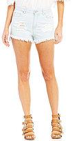 GB Light Wash Distressed Cutoff Jean Shorts