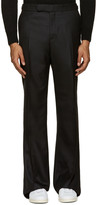 Alexander McQueen Black Wool Wide-Leg Trousers