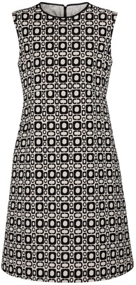S Max Mara Aosta printed cotton-blend minidress