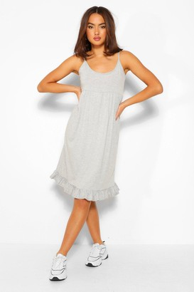 boohoo Strappy Tiered Smock Dress