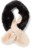 Ted Baker Two Tone Detail Faux Fur Scarf