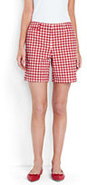 """Lands' End Women's Tall Mid Rise 7"""" Chino Shorts-Deep Sea Blossom"""
